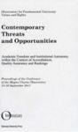 Contemporary Threats and Opportunities 2011