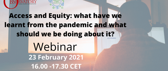 MCO & WAHED webinar - February 2021 - Access and equity