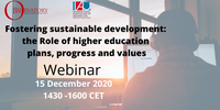 Sito evento - Fostering sustainable development: the Role of HE- plans, progress & values